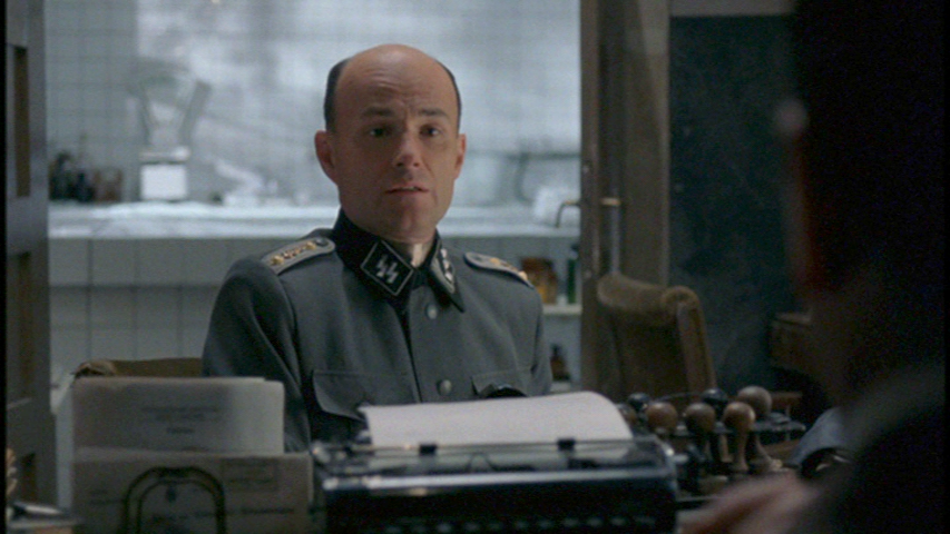 Some of the most tense scenes of the film take place here, in front of Joseph Mengele's desk.